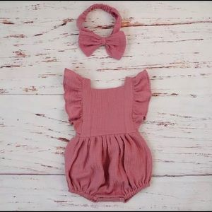 Other - Baby girl Romper in Pink